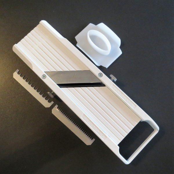 Japanische Mandoline Gemüsehobel verstellbar für Scheiben und Stifte