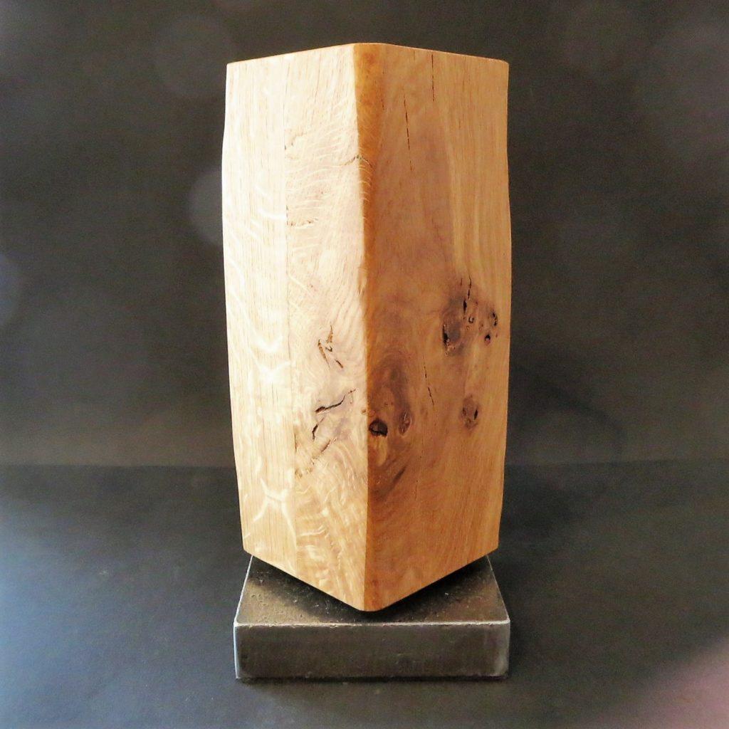 Magnetmesserblock Eichenholz mit Stahlfuß drehbar
