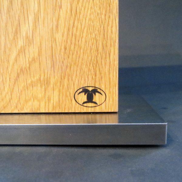 Magnetmesserblock Eichenholz mit Stahlfuß