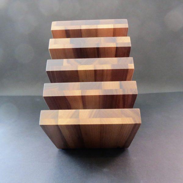 Messerblock magnetisch Walnussholz