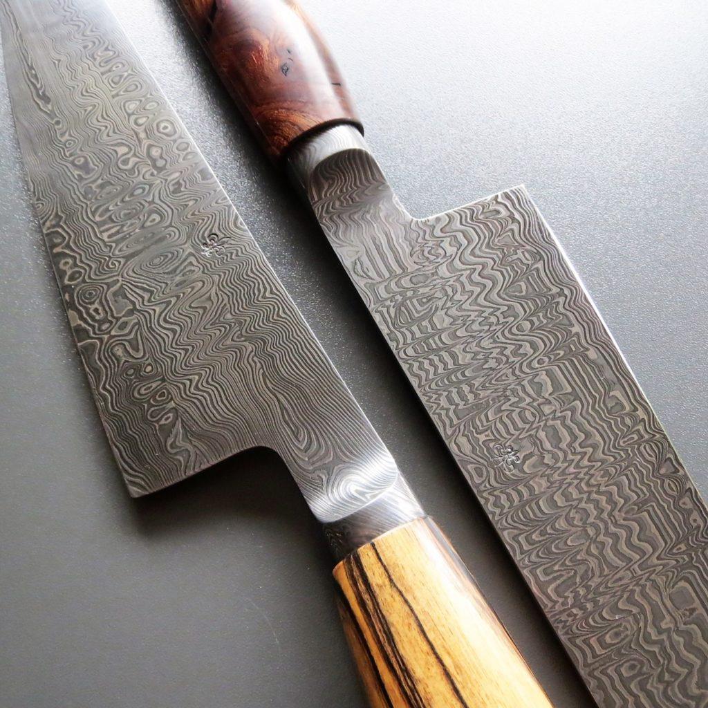 Küchenmesser Damaststahl handgeschmiedet