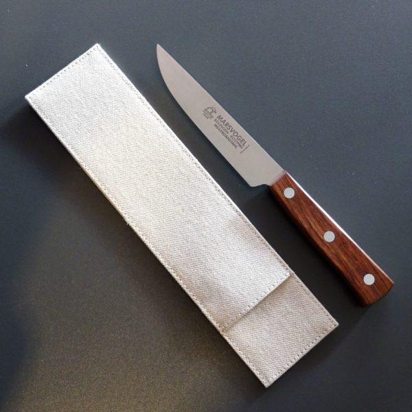 Brotzeitmesser Speckmesser mit Leinenstoffhülle