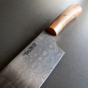 Kochmesser Damaststahl handgeschmiedet